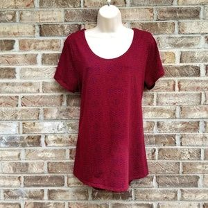 LuLaRoe>> Classic Tee Red and Blue Pattern